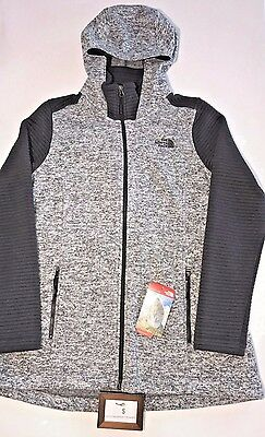 North Face Womens Size Large Full Zip Indi Hoodie Parka Gray Heather Jacket