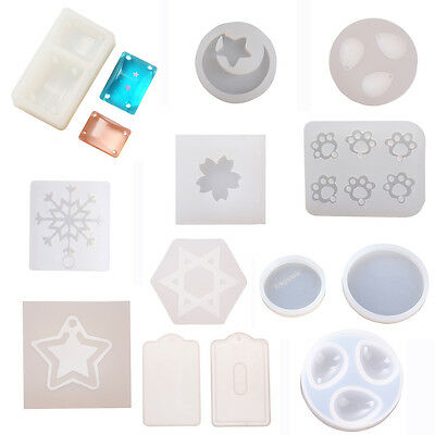 Various Pattern DIY Clear Silicone Mold Making Jewelry Pendant Resin Mould Craft