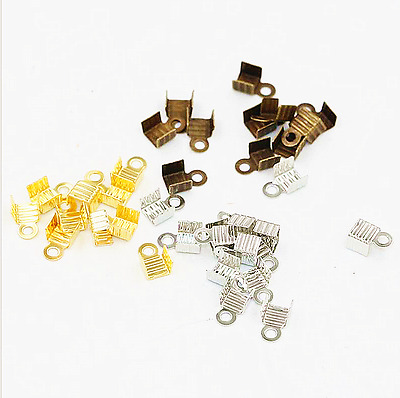 200 PCS 3 Colors Width Clips For Leather Cord Fixed Connection DIY Accessories