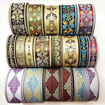 5 Meters Embroidery Floral Lace Crochet Fringe Jacquard Ribbon Braid Trim Craft