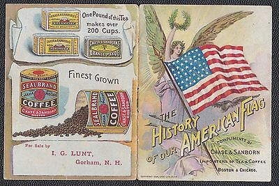 1898 HISTORY OF OUR AMERICAN FLAG booklet from Chase & Sanborn coffee