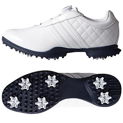 cheap for discount 2e400 c7bf7 Adidas Womens Driver BOA Golf Shoes - New Ladies White Climaproof Leather  Spiked