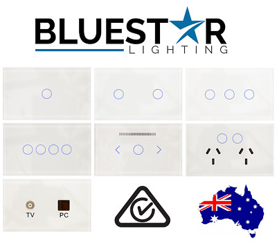BLUESTAR Touch Light Switch Power Point Socket GPO LED Dimmer Clipsal Compatible