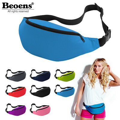 Unisex Travel Hiking Sport Running Bum Bag Fanny Pack Waist Belt Zip Pouch NEW