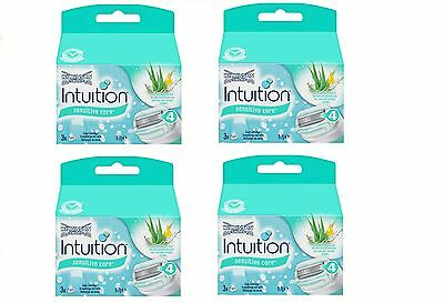 12 X Wilkinson Intuition Sensitive Care Rasierklingen 4x3 Stück