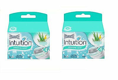 6 X Wilkinson Intuition Sensitive Care Rasierklingen 2x3 Stück