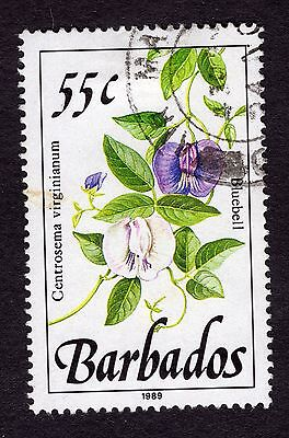 1989 Barbados 55c Bluebell SG898 FINE USED R32061