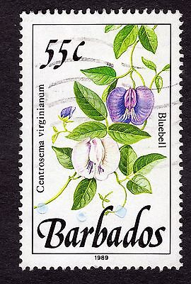 1989 Barbados 55c Bluebell SG898 FINE USED R32062