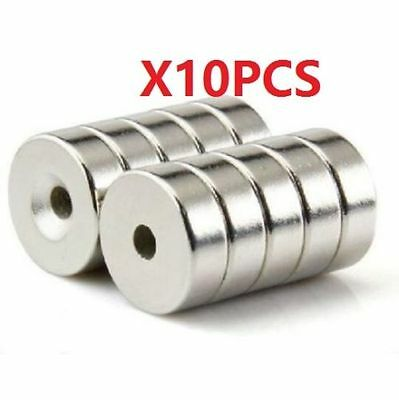 N35 15x5mm Countersunk Ring Magnets With 5mm Hole Strong Round Rare Earth 10pcs