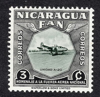 1954 Nicaragua 3c National Air Force Duglas Boston SG 1211 MOUNTED MINT R19813
