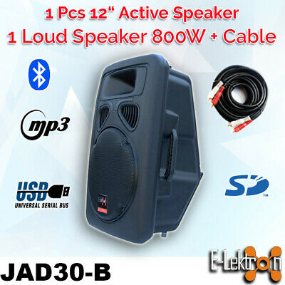 12 inch 800W Active Speaker Loud Digital Sound System PA SD/USB Bluetooth