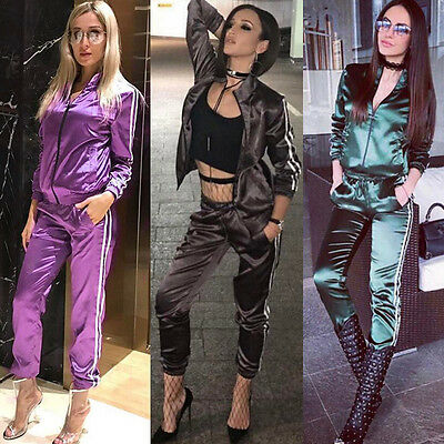 Womens Two Piece Sets Long Sleeve Top And Trouser Tracksuit Lounge Wear Suit Hot