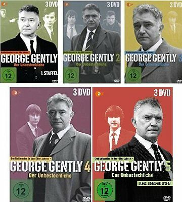 15 DVDs * GEORGE GENTLY - STAFFEL / SEASON 1 + 2 + 3 + 4 + 5 IM SET  # NEU OVP &