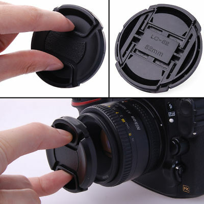 49mm-77mm Front Lens Cap Cover Snap-on Center Pinch for Canon Nikon Sony Camera