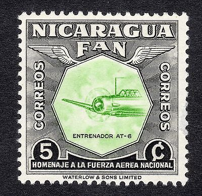 1954 Nicaragua 5c National Air Force AT6 Trainer SG 1213 MOUNTED MINT R19811