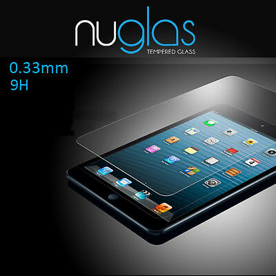 "Nuglas Tempered Glass Screen Protector for iPad 5th Gen  9.7"" Released in 2017"