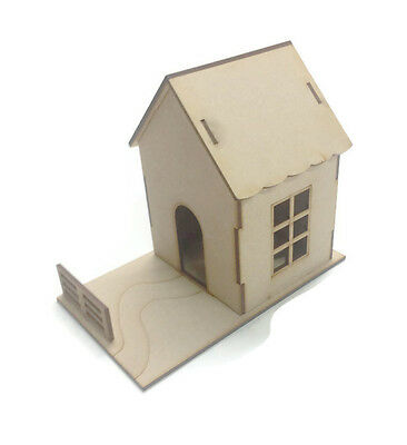 MDF Wooden 3D House Fairy Doll House 3mm MDF Childrens