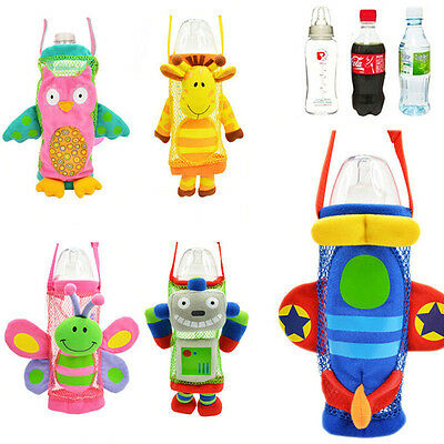 Baby Kid Milk Water Bottle Pouch Holder Travel Portable Bag With Strape AU