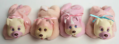 Hasbro 1991 Puppy Surprise Pink & White 4 Puppies Husky Collie Upright Ears
