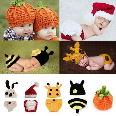 Newborn Baby Girl Boy Cartoon Crochet Knit Costume Photo Photography Prop Outfit