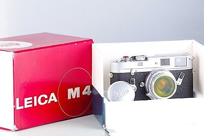 Super Top Leica Leitz Wetzlar M4 + Summicron 2/35 8 Elements Set Boxed Near Mint