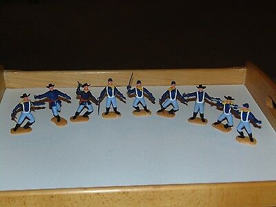 Timpo Toys American Civil War/Cavalry Soldiers x 9