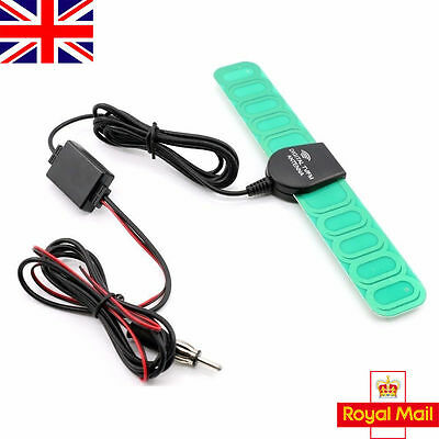 Electronic Auto Car Stereo Aerial FM Radio Hidden Amplified Antenna Universal UK