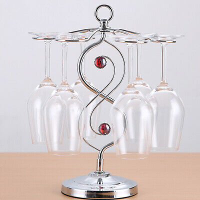 Unique Table Wine Cup Glass Holder Shelf Tumbler Drying Hanger Home Decor Rack