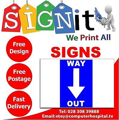 Way In / Way Out Sticker, Correx Plastic Or Aluminium Sign - JJ008