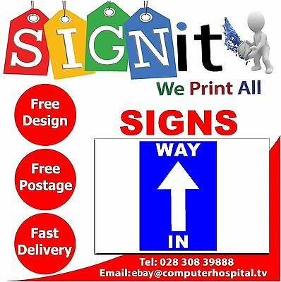 Way In / Way Out Sticker, Correx Plastic Or Aluminium Sign - JJ0010
