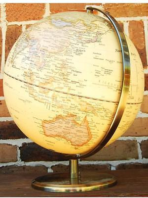 Clear View World Globe Raised Relief Wedding Gift Home Vintage Decor 30 x 42 cm