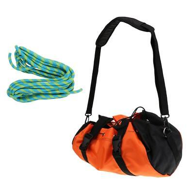 Folding Rock Climbing Caving Rope Bag Backpack + 10m 24KN Rescue Static Rope
