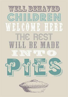 Well Behaved Children Welcome Here Tea Towel - Grandparent Gift Idea