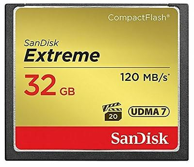 SanDisk 32GB Extreme UDMA 7 Compact Flash Card 120MB/s Read - 85MB/s Write