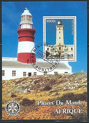 Lighthouses -  6 Different Souvenier Sheets - From Benin & Congo.........S 7712