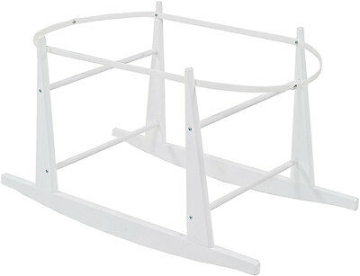 Shnuggle MOSES BASKET ROCKING STAND WHITE Sturdy Compact Light Frame Easy - New