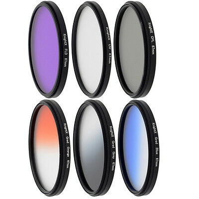KnightX 49mm 52mm 55mm 58mm 67mm 77mm FLD UV CPL Star nd filter For nikon canon