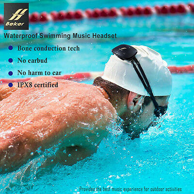 Beker Waterproof IPX8 Sports Swimming Music Headset MP3 Player Bone Conduction