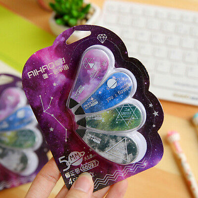 4pcs Star Sky Decorative Correction Tape Stationery School Office Supply Random
