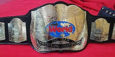 Wwf Tag Team Championship Replica Belt In Thick Brass Plates!!