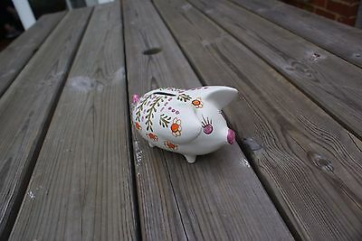 Vintage/ Retro Piggy Bank Small Ceramic Hand Painted English Arthur Wood