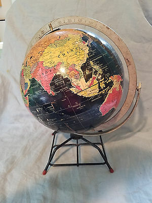 "Replogle 10"" starlight globe black! with cool stand!"