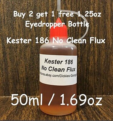 50ml/1.69oz NEEDLE TIP BOTTLE KESTER 186 ROSIN NO CLEAN FLUX FOR XBOX REFLOW