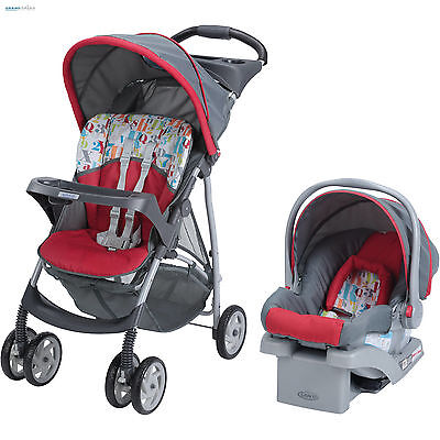 Baby Stroller And Car Seat Combo Lightweight Infant Travel System Child Carrier