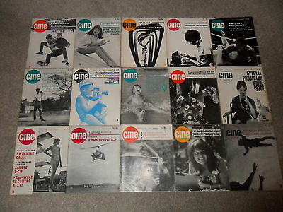 15 Issues Of AMATEUR CINE WORLD Magazine From 1964 (Movie Cameras)