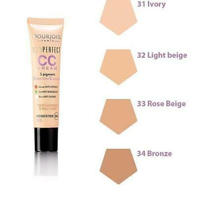 Bourjois 123 Perfect CC Cream Foundation 24hr Hydration Please Choose Shade