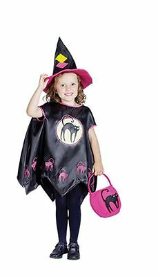 Toddler Girl Halloween Witch Fancy Dress Costume Party Outfit Cape Hat Book Day