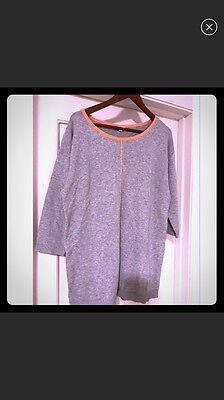 Gap Maternity sweater with coral piping. 3/4 length sleeves