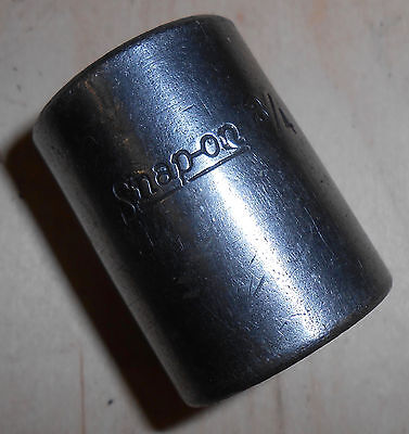 """Snap-On (IM-240) 1/2"""" Drive, 6 Point, 3/4"""" (19mm) Impact Socket *Made in the USA"""