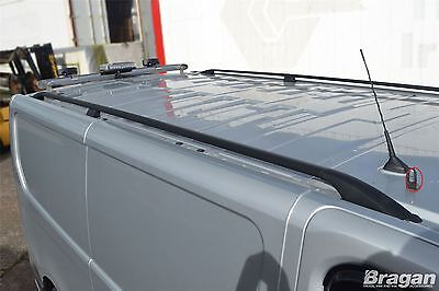 To Fit 2002 - 2014 Vauxhall Opel Vivaro SWB Black Aluminium Roof Rails Rack Bars